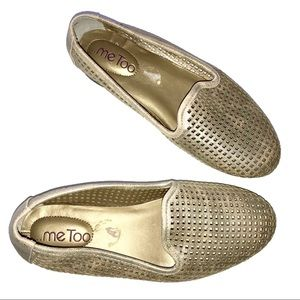 Me Too Gold Laser Cut Loafers